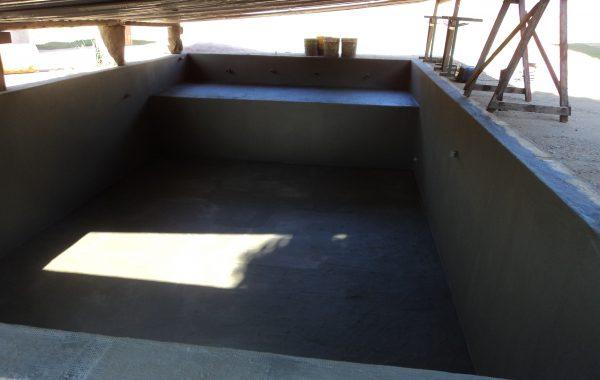 Impermeabilização de piscina com Manta Acrílica